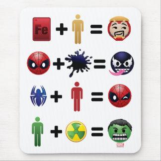 Marvel Emoji Character Equations Mouse Pad