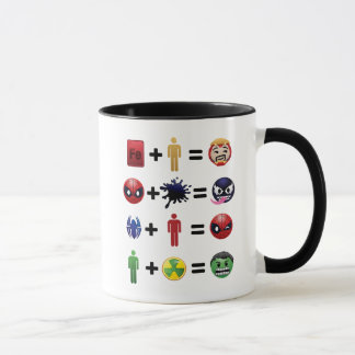 Marvel Emoji Character Equations Mug