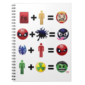 Marvel Emoji Character Equations Notebooks