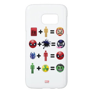 Marvel Emoji Character Equations Samsung Galaxy S7 Case