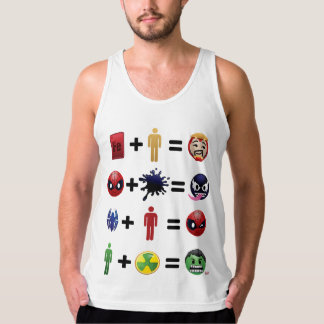 Marvel Emoji Character Equations Tank Top
