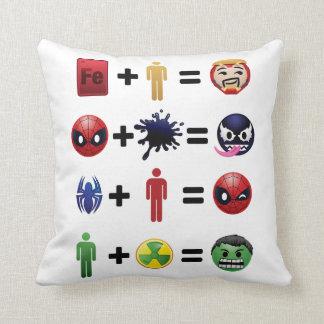 Marvel Emoji Character Equations Throw Pillow