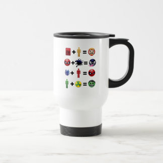 Marvel Emoji Character Equations Travel Mug
