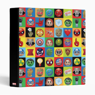 Marvel Emoji Characters Grid Pattern 3 Ring Binder
