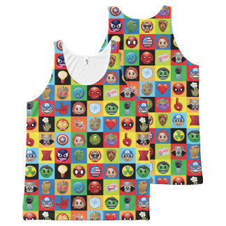 Marvel Emoji Characters Grid Pattern All-Over-Print Tank Top