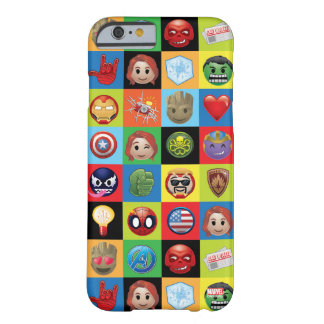 Marvel Emoji Characters Grid Pattern Barely There iPhone 6 Case