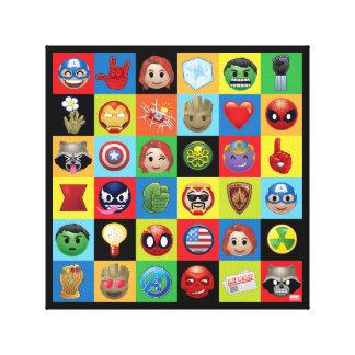 Marvel Emoji Characters Grid Pattern Canvas Print