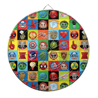 Marvel Emoji Characters Grid Pattern Dart Boards