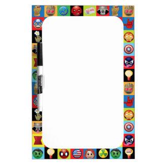 Marvel Emoji Characters Grid Pattern Dry Erase Board