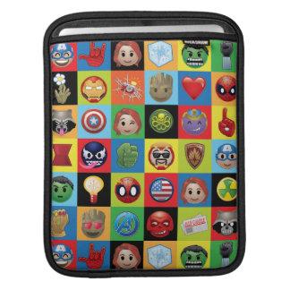 Marvel Emoji Characters Grid Pattern iPad Sleeve