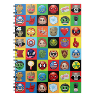 Marvel Emoji Characters Grid Pattern Notebooks
