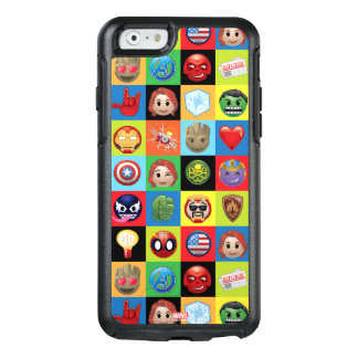 Marvel Emoji Characters Grid Pattern OtterBox iPhone 6/6s Case