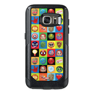 Marvel Emoji Characters Grid Pattern OtterBox Samsung Galaxy S7 Case