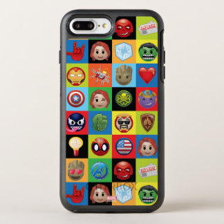 Marvel Emoji Characters Grid Pattern OtterBox Symmetry iPhone 8 Plus/7 Plus Case