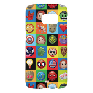Marvel Emoji Characters Grid Pattern Samsung Galaxy S7 Case