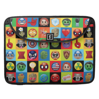 Marvel Emoji Characters Grid Pattern Sleeve For MacBook Pro
