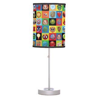 Marvel Emoji Characters Grid Pattern Table Lamp
