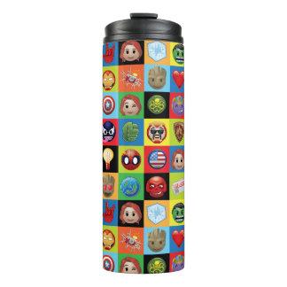 Marvel Emoji Characters Grid Pattern Thermal Tumbler