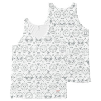 Marvel Emoji Characters Outline Pattern All-Over-Print Tank Top