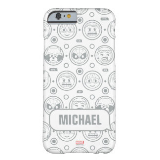 Marvel Emoji Characters Outline Pattern Barely There iPhone 6 Case