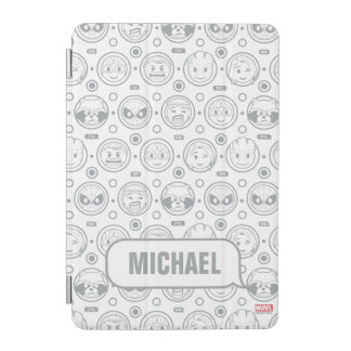 Marvel Emoji Characters Outline Pattern iPad Mini Cover