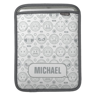 Marvel Emoji Characters Outline Pattern iPad Sleeve