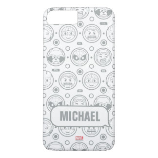 Marvel Emoji Characters Outline Pattern iPhone 8 Plus/7 Plus Case