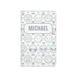 Marvel Emoji Characters Outline Pattern Journal