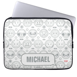 Marvel Emoji Characters Outline Pattern Laptop Sleeve