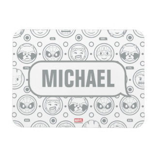 Marvel Emoji Characters Outline Pattern Magnet