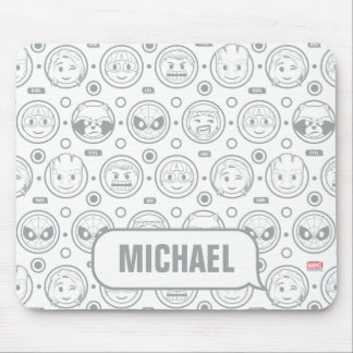 Marvel Emoji Characters Outline Pattern Mouse Pad