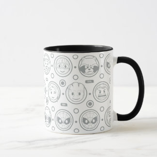 Marvel Emoji Characters Outline Pattern Mug