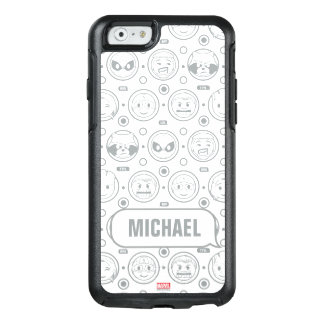 Marvel Emoji Characters Outline Pattern OtterBox iPhone 6/6s Case