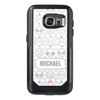 Marvel Emoji Characters Outline Pattern OtterBox Samsung Galaxy S7 Case