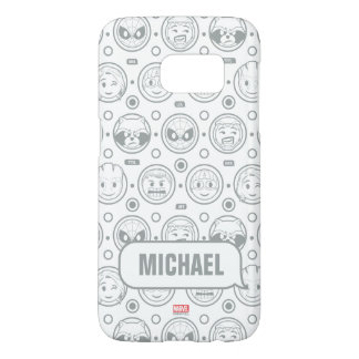 Marvel Emoji Characters Outline Pattern Samsung Galaxy S7 Case