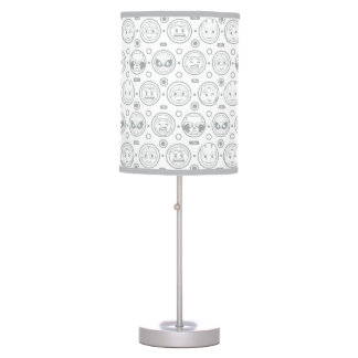 Marvel Emoji Characters Outline Pattern Table Lamp