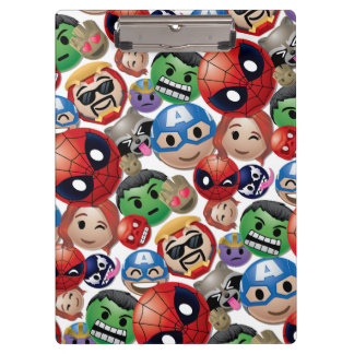 Marvel Emoji Characters Toss Pattern Clipboard