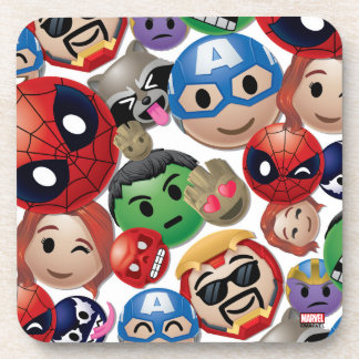 Marvel Emoji Characters Toss Pattern Coaster