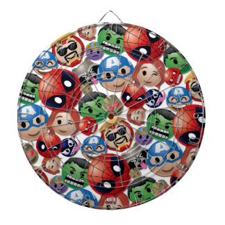 Marvel Emoji Characters Toss Pattern Dartboard With Darts