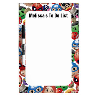 Marvel Emoji Characters Toss Pattern Dry Erase Board