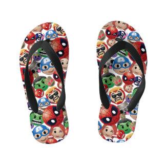 Marvel Emoji Characters Toss Pattern Kid's Flip Flops