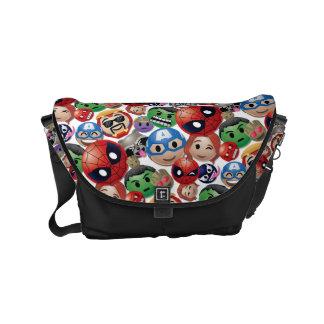 Marvel Emoji Characters Toss Pattern Messenger Bag