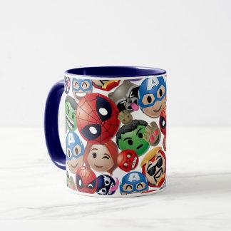 Marvel Emoji Characters Toss Pattern Mug
