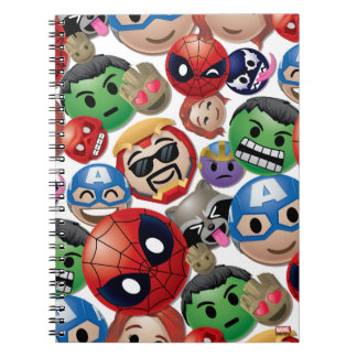 Marvel Emoji Characters Toss Pattern Notebooks