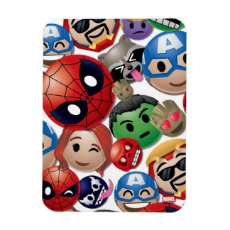 Marvel Emoji Characters Toss Pattern Rectangular Photo Magnet