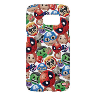 Marvel Emoji Characters Toss Pattern Samsung Galaxy S7 Case