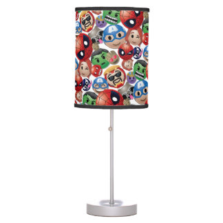 Marvel Emoji Characters Toss Pattern Table Lamp