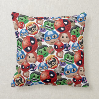 Marvel Emoji Characters Toss Pattern Throw Pillow