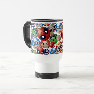 Marvel Emoji Characters Toss Pattern Travel Mug