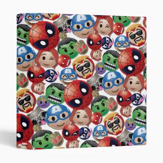 Marvel Emoji Characters Toss Pattern Vinyl Binder